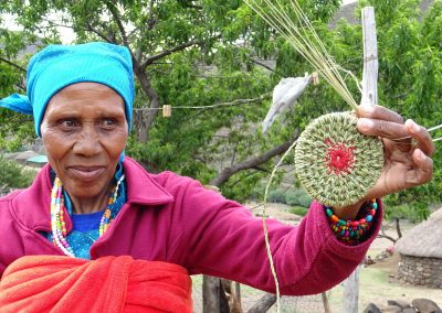 Basuto woman crafting