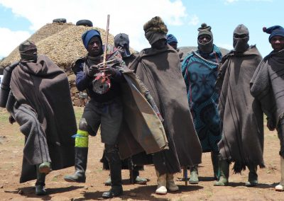 Local basotho men