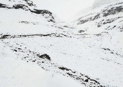 Sani pass snowed under