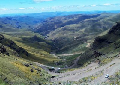Sani pass in summer